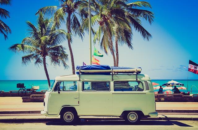 vw-camper na dovolené
